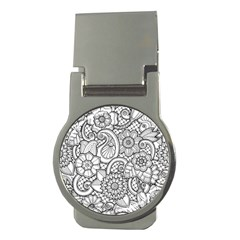 These Flowers Need Colour! Money Clips (round)