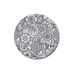 These Flowers Need Colour! Rubber Coaster (Round)