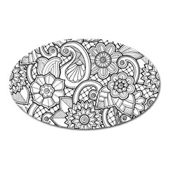 These Flowers Need Colour! Oval Magnet