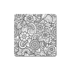 These Flowers Need Colour! Square Magnet