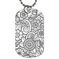 These Flowers Need Colour! Dog Tag (One Side)