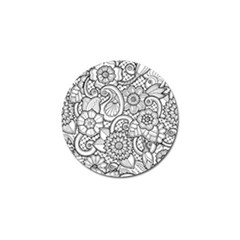 These Flowers Need Colour! Golf Ball Marker