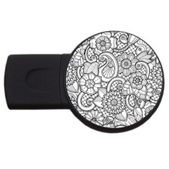 These Flowers Need Colour! USB Flash Drive Round (2 GB)