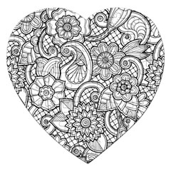 These Flowers Need Colour! Jigsaw Puzzle (heart)