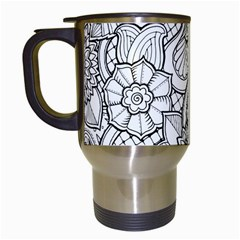 These Flowers Need Colour! Travel Mugs (White)