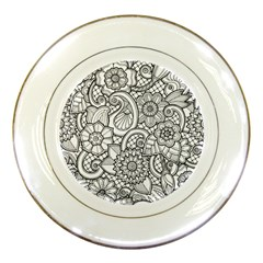 These Flowers Need Colour! Porcelain Plates