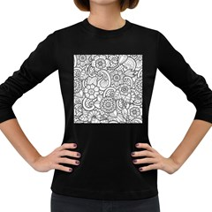 These Flowers Need Colour! Women s Long Sleeve Dark T-Shirts