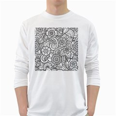 These Flowers Need Colour! White Long Sleeve T-Shirts