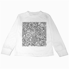 These Flowers Need Colour! Kids Long Sleeve T-Shirts