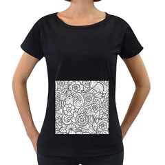These Flowers Need Colour! Women s Loose-Fit T-Shirt (Black)