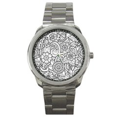 These Flowers Need Colour! Sport Metal Watch