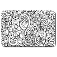 These Flowers Need Colour! Large Doormat