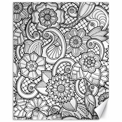 These Flowers Need Colour! Canvas 11  x 14