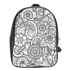 These Flowers Need Colour! School Bags(Large)