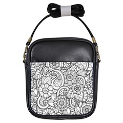 These Flowers Need Colour! Girls Sling Bags