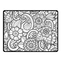 These Flowers Need Colour! Fleece Blanket (small)