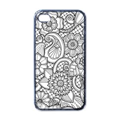 These Flowers Need Colour! Apple Iphone 4 Case (black)