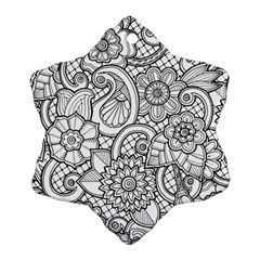 These Flowers Need Colour! Ornament (Snowflake)