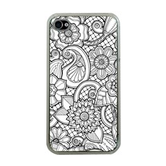 These Flowers Need Colour! Apple iPhone 4 Case (Clear)