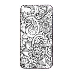 These Flowers Need Colour! Apple iPhone 4/4s Seamless Case (Black)