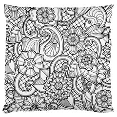 These Flowers Need Colour! Large Cushion Case (Two Sides)