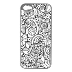 These Flowers Need Colour! Apple iPhone 5 Case (Silver)
