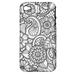 These Flowers Need Colour! Apple iPhone 4/4S Hardshell Case (PC+Silicone)
