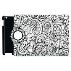 These Flowers Need Colour! Apple iPad 3/4 Flip 360 Case