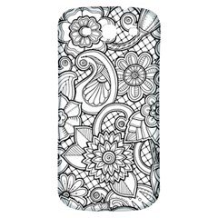 These Flowers Need Colour! Samsung Galaxy S3 S Iii Classic Hardshell Back Case