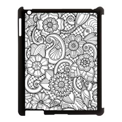 These Flowers Need Colour! Apple iPad 3/4 Case (Black)