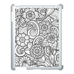 These Flowers Need Colour! Apple iPad 3/4 Case (White)