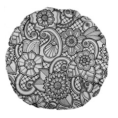 These Flowers Need Colour! Large 18  Premium Round Cushions