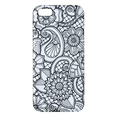 These Flowers Need Colour! Apple iPhone 5 Premium Hardshell Case