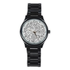 These Flowers Need Colour! Stainless Steel Round Watch
