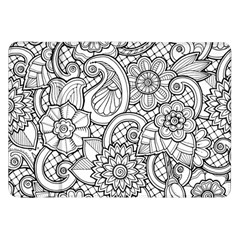 These Flowers Need Colour! Samsung Galaxy Tab 8.9  P7300 Flip Case
