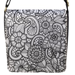 These Flowers Need Colour! Flap Messenger Bag (S)