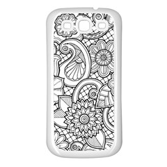These Flowers Need Colour! Samsung Galaxy S3 Back Case (White)