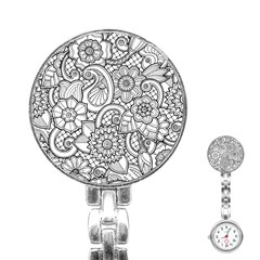 These Flowers Need Colour! Stainless Steel Nurses Watch