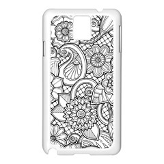 These Flowers Need Colour! Samsung Galaxy Note 3 N9005 Case (white)