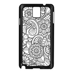 These Flowers Need Colour! Samsung Galaxy Note 3 N9005 Case (Black)