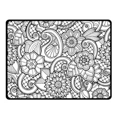 These Flowers Need Colour! Double Sided Fleece Blanket (Small)
