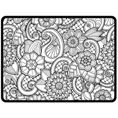 These Flowers Need Colour! Double Sided Fleece Blanket (Large)