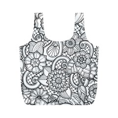 These Flowers Need Colour! Full Print Recycle Bags (M)