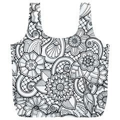 These Flowers Need Colour! Full Print Recycle Bags (L)