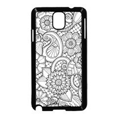 These Flowers Need Colour! Samsung Galaxy Note 3 Neo Hardshell Case (Black)