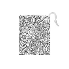 These Flowers Need Colour! Drawstring Pouches (Small)