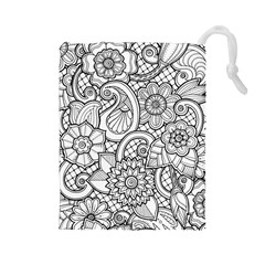 These Flowers Need Colour! Drawstring Pouches (Large)