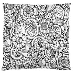 These Flowers Need Colour! Standard Flano Cushion Case (Two Sides)