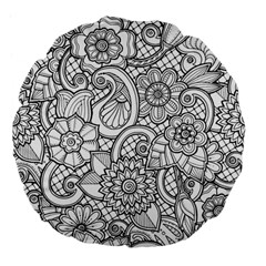 These Flowers Need Colour! Large 18  Premium Flano Round Cushions
