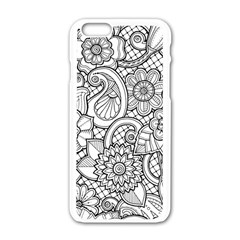 These Flowers Need Colour! Apple iPhone 6/6S White Enamel Case